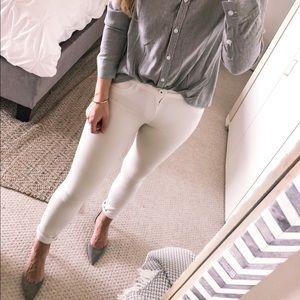 CABI • White Bree Skinny Jeans